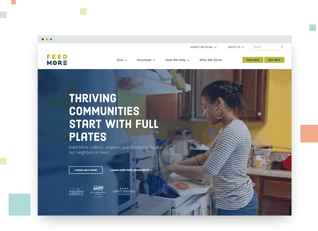Feed More website
