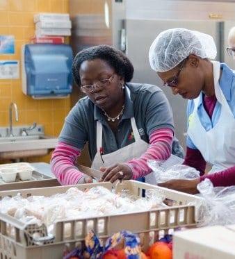 Feed More volunteers working