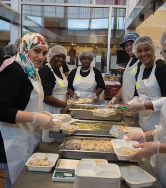 Smiling Feed More volunteers