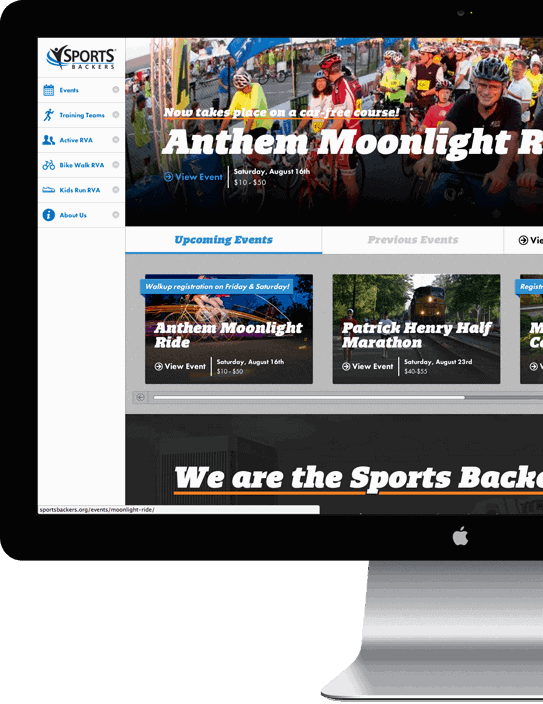 Sports Backers website