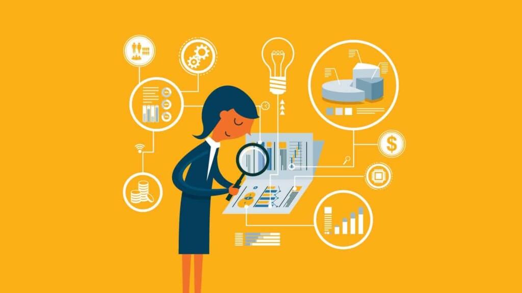 CMO examining site analytics