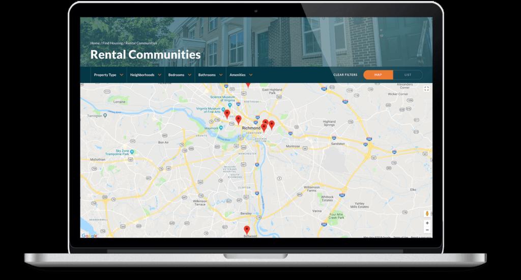 Better housing rental map