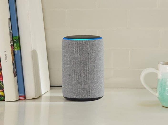 An Amazon Alexa Plus on a counter