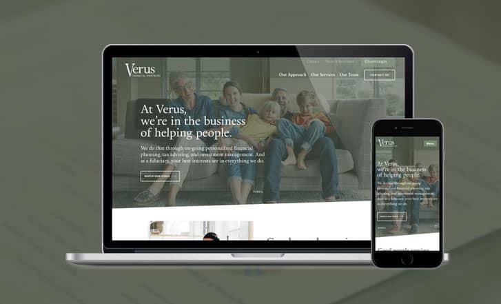 Verus Financial site mock up