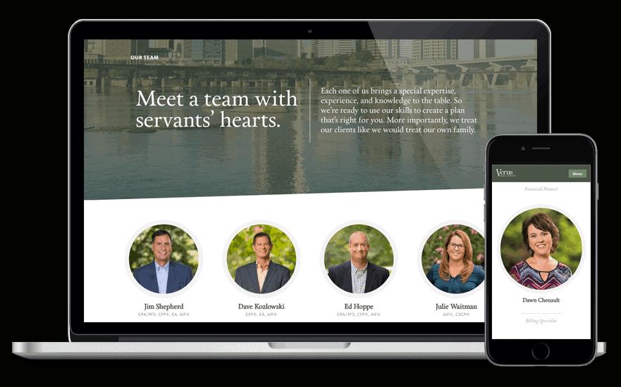 Verus Financial website